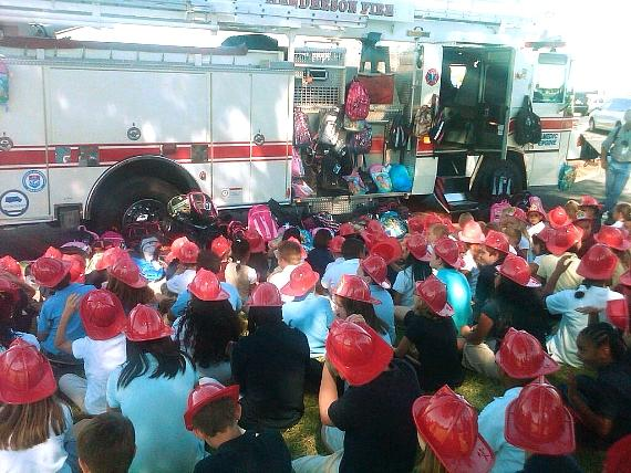 9 Cares and Firefighters of Southern Nevada Burn Foundation Back-to-School Drive
