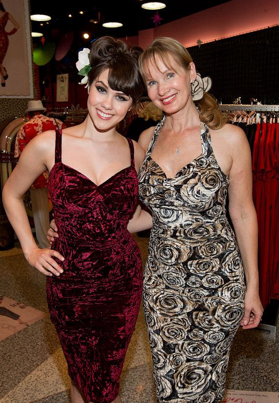 Claire Sinclair and Tatyana at Bettie Page Clothing in The Forum Shops at Caesars Palace