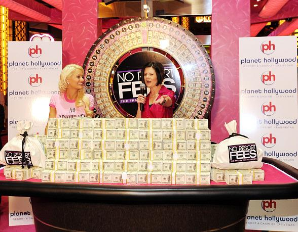 Holly Madison and Marilyn Winn, President of Planet Hollywood and PH Towers