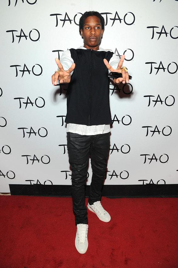 A$AP Rocky on red carpet at TAO