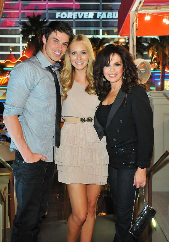 Adam Gregory, Sheridan Nicole Gregory and Marie Osmond