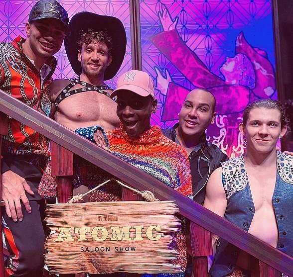 "Alexis Mateo, Coco and Kahanna Montrese Attend ""Atomic Saloon Show"" at the Grand Canal Shoppes inside The Venetian Resort"