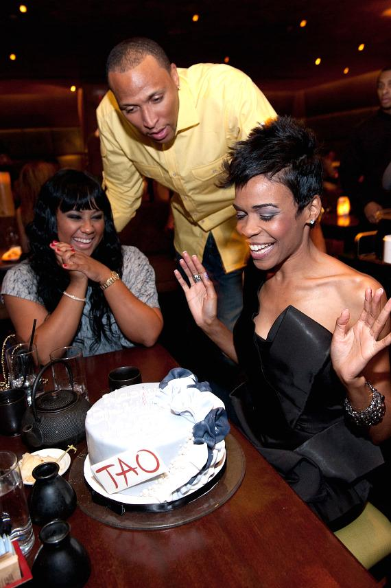 Angela Beyince, Shawn Marion and Michelle Williams at TAO