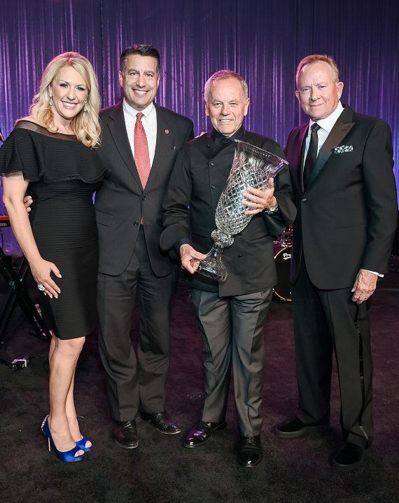 Angela Rock, Governor Brian Sandoval, Chef Wolfgang Puck, Garry Goett