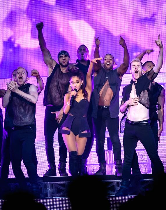 Ariana Grande performs at Mandalay Bay Events Center
