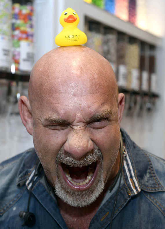 WWE/WCW Pro Wrestler Bill Goldberg with the famous Sugar Factory duck