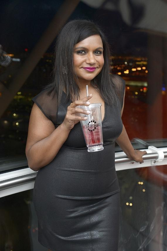 """Mindy Kaling from """"The Mindy Project"""" inside The High Roller"""