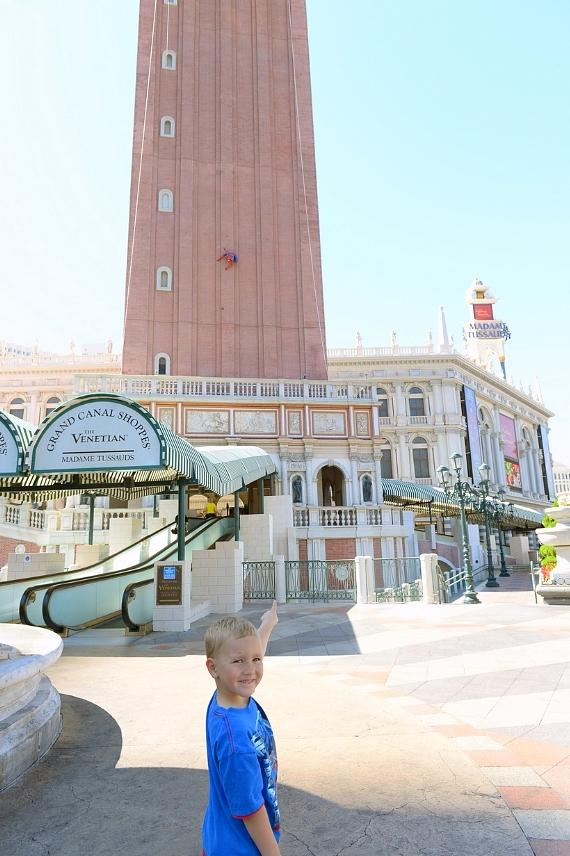 Spider-Man clings to The Venetian Las Vegas