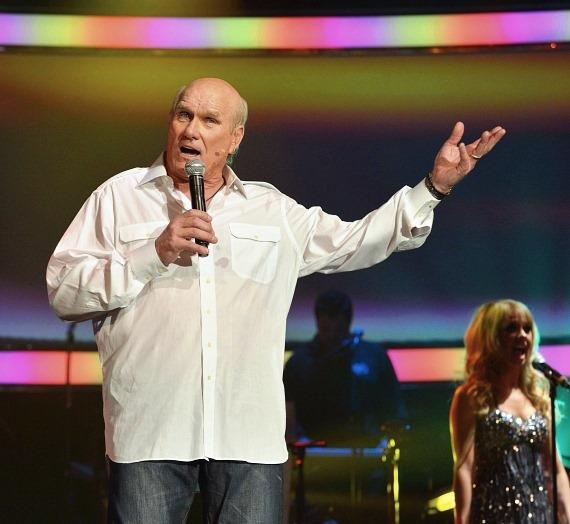 Terry Bradshaw performs during the 'Terry Bradshaw: America's Favorite Dumb Blonde... A Life in Four Quarters' show premier at The Mirage Hotel & Casino