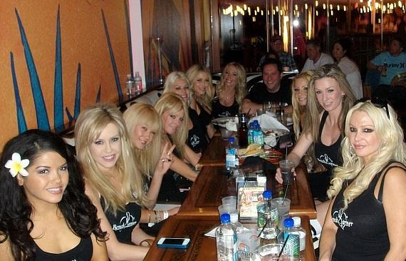 The Benchwarmer girls celebrate the Big Game at Cabo Wabo Cantina