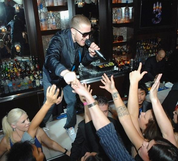 Mike Posner performs at Blush Boutique Nightclub