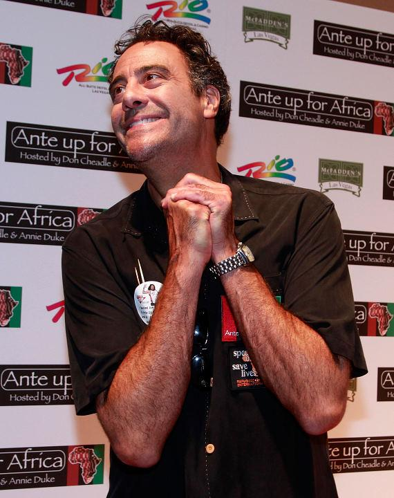 Brad Garrett poses on McFadden's red carpet