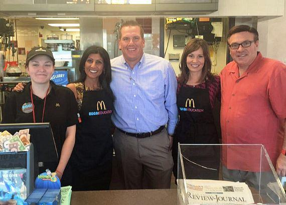 Brent Bohn with KTNV Channel 13 Action News personalities Dayna Roselli & Beth Fisher