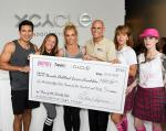 Check presentation to NCCF with Mario Lopez, Jen Barnet, Britney Spears, Jeff Gordon, Stephanie Parker and Anna Laufenburger