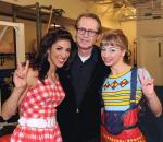 Steve Buscemi with cast members of The Beatles LOVE by Cirque du Soleil