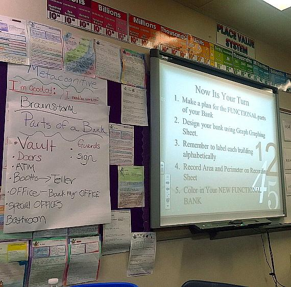 Nevada President of Bank of America, George W. Smith's lesson plan for Teach for America week.