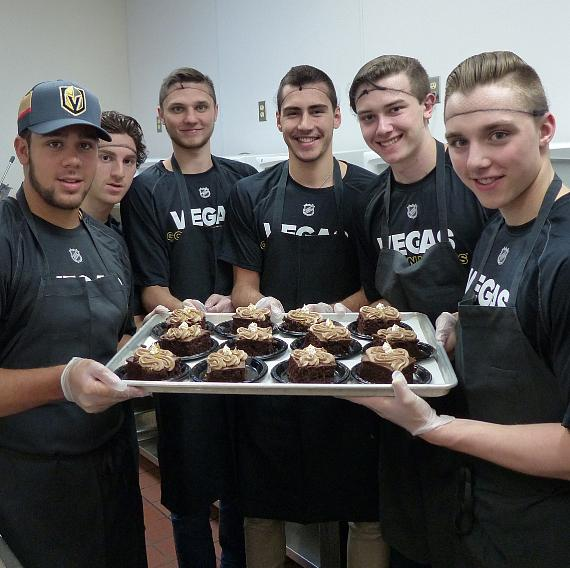 Vegas Golden Knights serves double fudge choc cake at CCSN