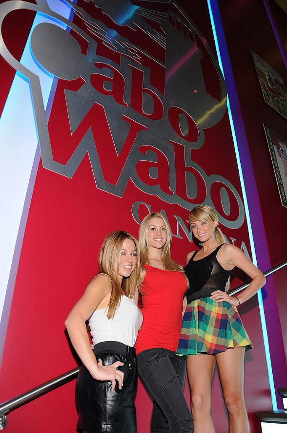 Playboy model, Jessica Hall, Playmate of the Month February 2007, Heather Rae and Playmate of the Year, Sara Underwood