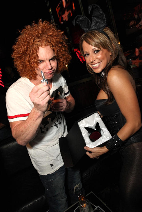 Carrot Top and Bunny Tiffany DeLeon