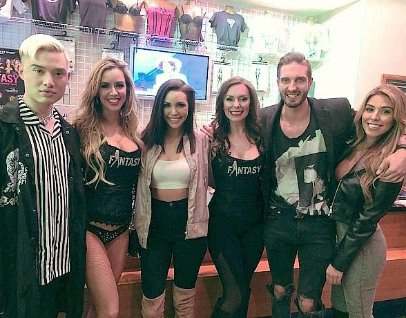 """Scheana Shay and Chester Lockhart of """"Sex Tips"""" Visited FANTASY at Luxor Las Vegas"""