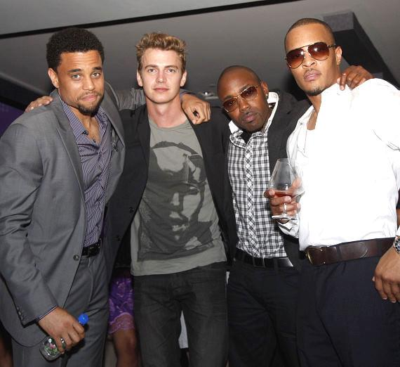 Cast of TAKERS with producer, Michael Ealy, Hayden Christensen, producer Will Packer and TI