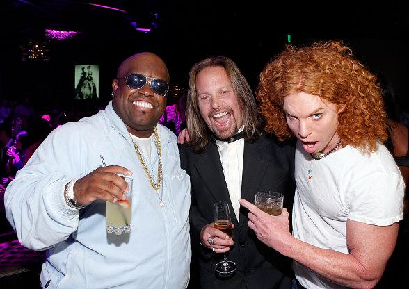 CeeLo Green with Vince Neil and Carrot Top at Gallery nightclub at Planet Hollywood