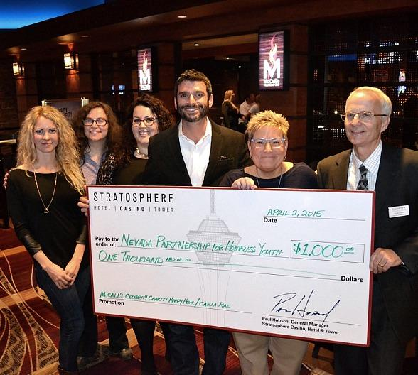 Stratosphere Casino, Hotel & Tower Donates $1,000 to Local Nonprofit at Celebrity Happy Hour Event