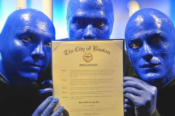 City of Boston declares Blue Man Group Day