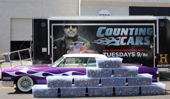Counting Cars unload tens of thousands of mini-cars from a 1966 Cadillac Coupe de Ville restored by Danny Koker and the crew at Count's Kustoms