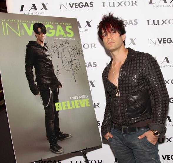 In Vegas Magazine Celebrates Show & Entertainment Issue with Magician Criss Angel at LAX Nightclub
