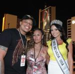Curtis Young (Dr. Dre's son) with Miss Nevada Emelina Adams at Downtown Las Vegas Events Center