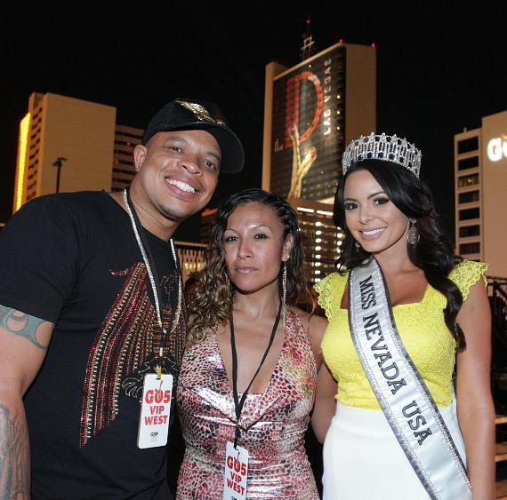 Curtis Young (Dr. Dre's son) with Miss Nevada USA Emelina Adams at Downtown Las Vegas Events Center