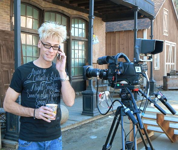 Murray tapes his second appearance on Hallmark's 'Home & Family'