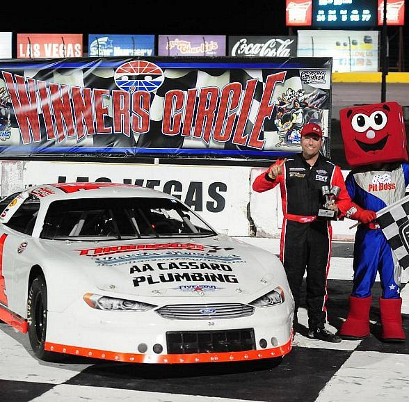 Clyne Stays Red Hot, Wins Fifth Consecutive NASCAR Super Late Models Race at The Bullring at Las Vegas Motor Speedway