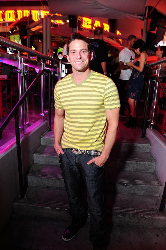 Jeff Timmons outside PBR Rock Bar & Grill at Planet Hollywood in Las Vegas