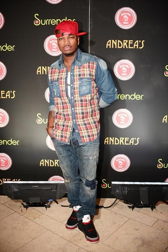 Ne-Yo arrives at Surrender Nightclub in Las Vegas