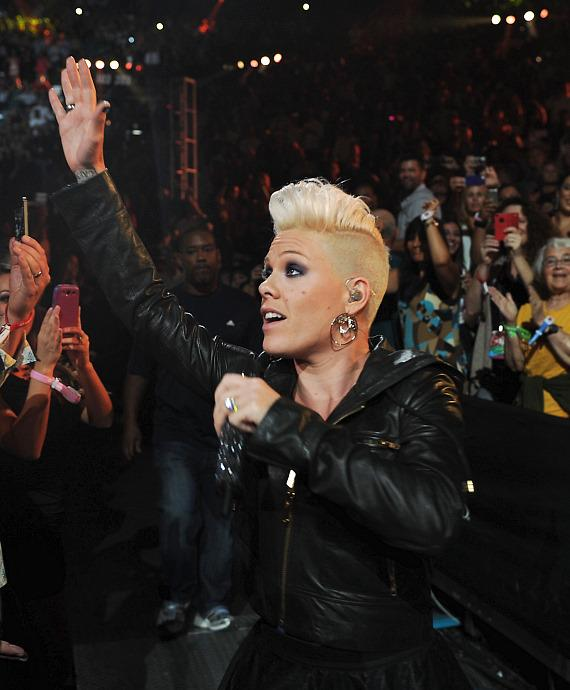 Pink performs at iHeartRadio Music Festival