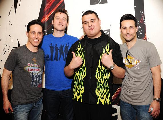 Jeff Leibow, Rob Marnell, and Jason Martinez from Jersey Boys with co-host Robert Blasi