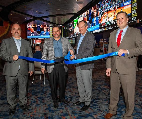 Ribbon cutting with David Snock, Steve Arcana, Joe Asher and Michael Grodsky