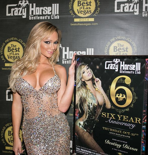 Adult Star Destiny Dixon Toasts Crazy Horse III's Sixth Anniversary in Las Vegas