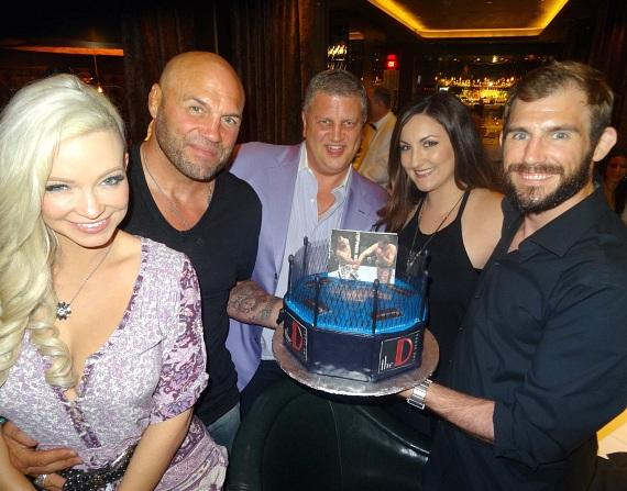 Dinner at Andiamo with Randy Couture, Ryan Couture, Emily Couture, Mindy Robinson with the D owner Derek Stevens