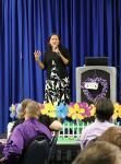 Dr. Marisa Menchola from the University of Arizona presents at the 14th annual Education Conference presented by Affinity Gaming and Alzheimer's Association