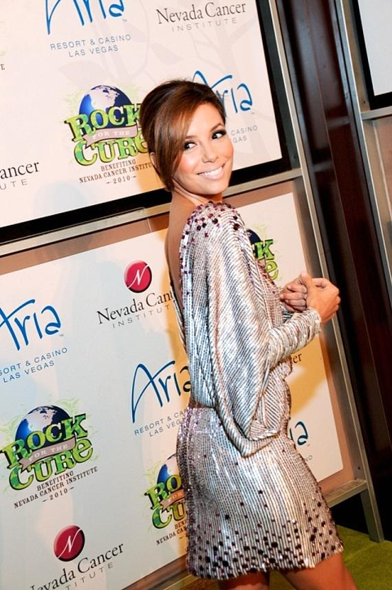 Eva Longoria-Parker on red carpet at Nevada Cancer Institute's Rock for the Cure Las Vegas