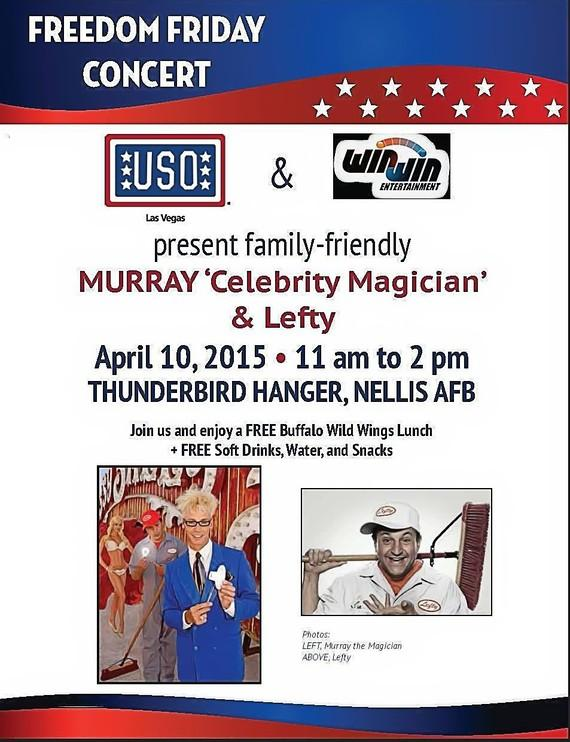 Murray 'Celebrity Magician' & Lefty to perform for USO at Nellis Airforce Base April 10