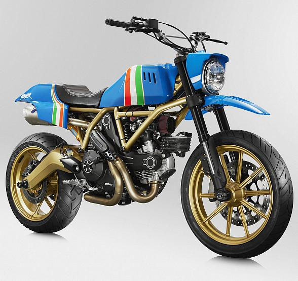 Ducati to Auction First Maverick Custom Scrambler Motorcycle for Charity on June 2 in Las Vegas