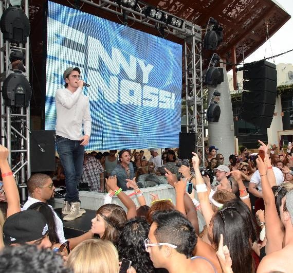 Gary Baker with Benny Benassi at Marquee Dayclub