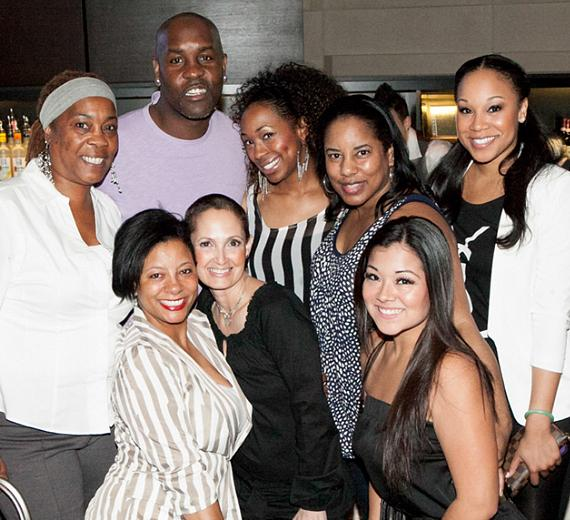 Gary Payton with friends and family at HERAEA in The Palms