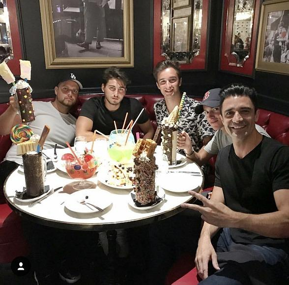 Actor Gilles Marini and Backstreet Boy AJ McLean Celebrate Father's Day in Las Vegas
