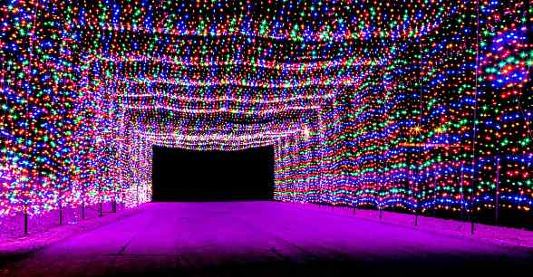 Glittering Lights At Las Vegas Motor Speedway To