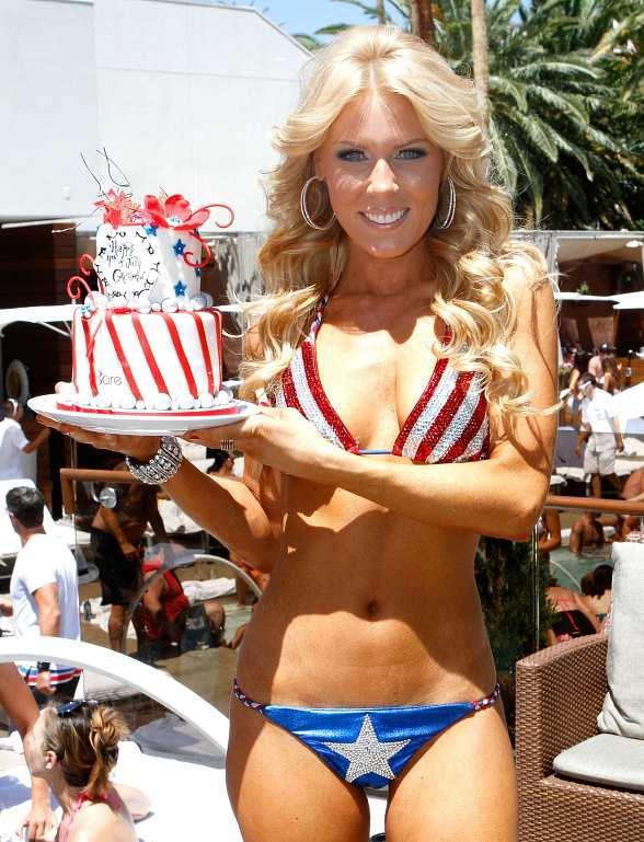 Gretchen Rossi at BARE Pool Lounge